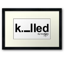 Killed Framed Print