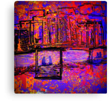 The Couple by the Bay Canvas Print