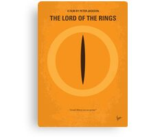 No039 My Lord Rings minimal movie poster Canvas Print