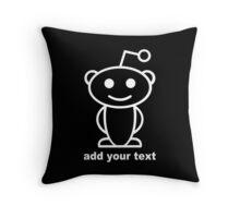 Reddit alien funny geek nerd Throw Pillow