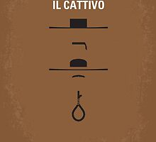 No042 My Il buono il brutto il cattivo minimal movie poster by JiLong