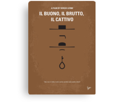 No042 My Il buono il brutto il cattivo minimal movie poster Canvas Print