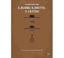 No042 My Il buono il brutto il cattivo minimal movie poster Photographic Print