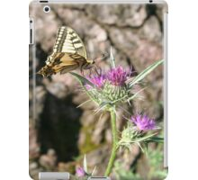 Scarce Swallowtail Butterfly and Thistle iPad Case/Skin