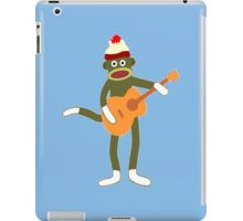 Sock monkey acoustic guitar funny geek nerd iPad Case/Skin