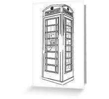 British Public Telephone Box Greeting Card