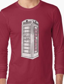 British Public Telephone Box Long Sleeve T-Shirt