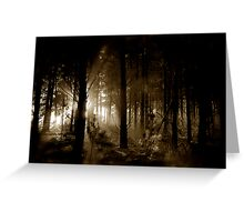 Forest mornings Greeting Card