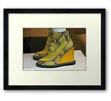 Yellow Alligators Framed Print