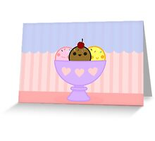 Kawaii ice cream Greeting Card