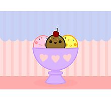 Kawaii ice cream Photographic Print