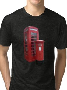 British Phone Booth and Post Office Box Tri-blend T-Shirt