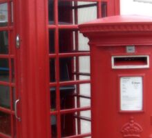 British Phone Booth and Post Office Box Sticker