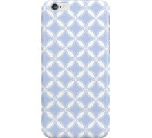 Alice Blue Quatrefoil in an English Country Garden iPhone Case/Skin