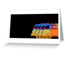 Pop Art VW Surfer Bus Greeting Card
