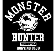 Monster Hunter - Hunting Club (white) Photographic Print