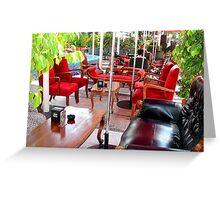 INDOOR/OUTDOOR LINCOLN ROAD SIDEWALK CAFE Greeting Card