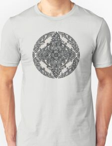 Charcoal Lace Pencil Doodle Unisex T-Shirt