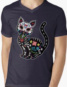 Dia de los Gatos Mens V-Neck T-Shirt