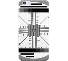 TV Test Pattern Black and white iPhone Case/Skin