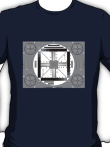 TV Test Pattern Black and white T-Shirt