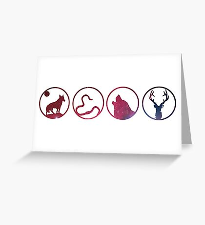 Moony, Wormtail, Padfoot, Prongs Greeting Card