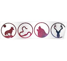 Moony, Wormtail, Padfoot, Prongs Poster