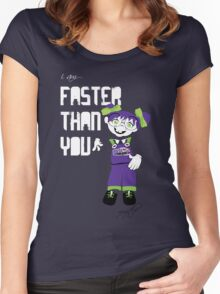 I am Faster than You Women's Fitted Scoop T-Shirt