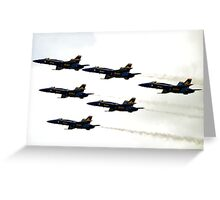 Blue Angels in the Sky Greeting Card