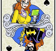 Batgirl - Queen of Spades by acatrisart