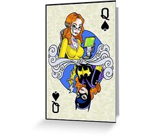 Batgirl - Queen of Spades Greeting Card