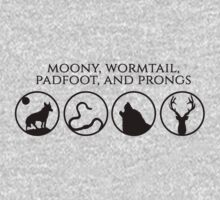 Moony, Wormtail, Padfoot, Prongs by consultingcat