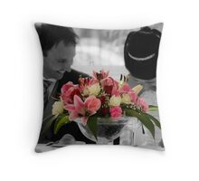 Newlyweds Throw Pillow