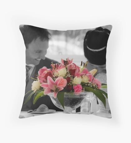 Newlyweds Throw Pillow