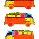 VW Surfer Vans 3 by Edward Fielding