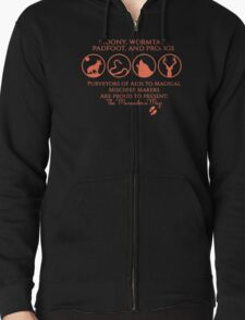 Moony, Wormtail, Padfoot, Prongs Zipped Hoodie