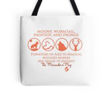 Moony, Wormtail, Padfoot, Prongs Tote Bag