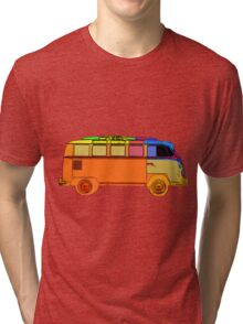 VDub Surfer Bus Single Tri-blend T-Shirt