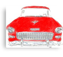 Vintage Red Chevy Canvas Print