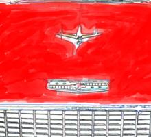 Vintage Red Chevy Sticker