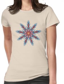 'FeatherFlower 017' Womens Fitted T-Shirt