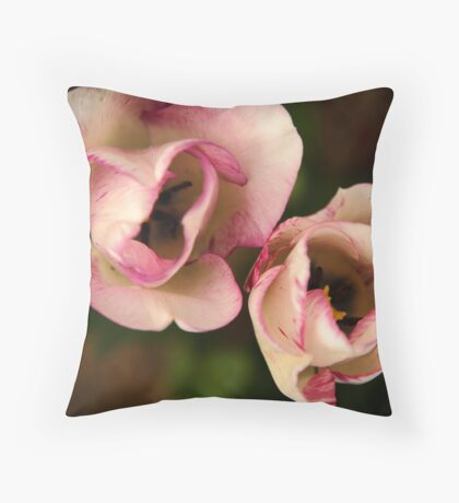 Soft Touch Tulips Throw Pillow