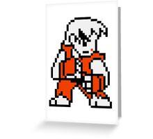 Ken Masters - Street Fighter Sprite Greeting Card