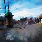 crossroads. windy day by Nikolay Semyonov