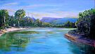 Tallebudgera Creek from Schuster Park  by Virginia McGowan