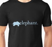 E is for Elephant. Unisex T-Shirt