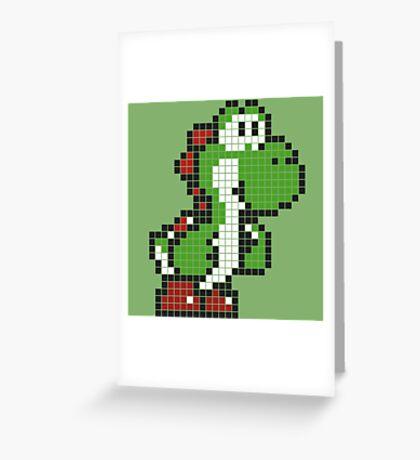Pixel Yoshi Greeting Card