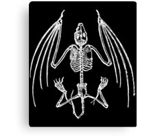 Vampire Bat Skeleton Canvas Print