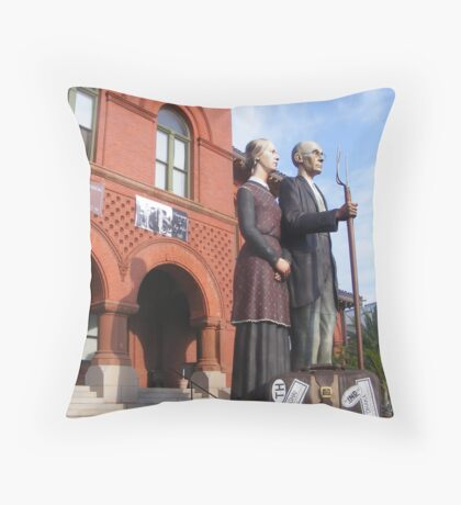 The Real American Gothic Part Deux Throw Pillow
