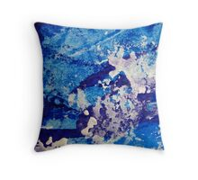 Crescendo in Blue Throw Pillow